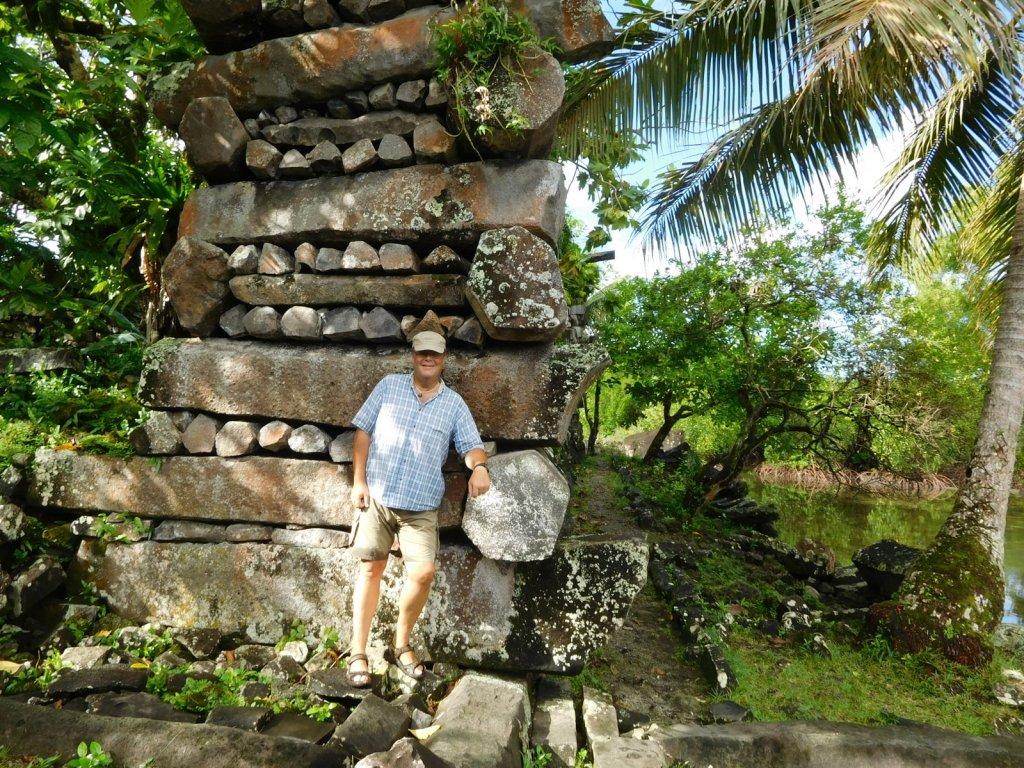 Vaikuttavat Nan Madolin rauniot Pohnpeilla. UNESCOn maailmanperintökohde ja ehkä koko Oseanian merkittävin kulttuurinähtävyys
